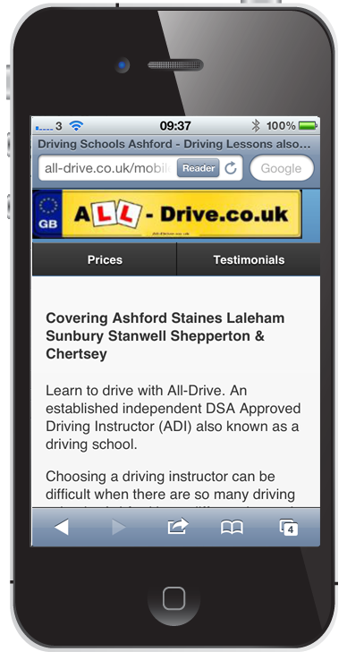 All Drive Mobile Website
